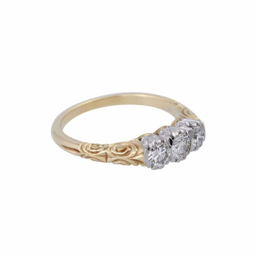 Ring with brilliant-cut diamonds, together approx 0.5 ct, - photo 2