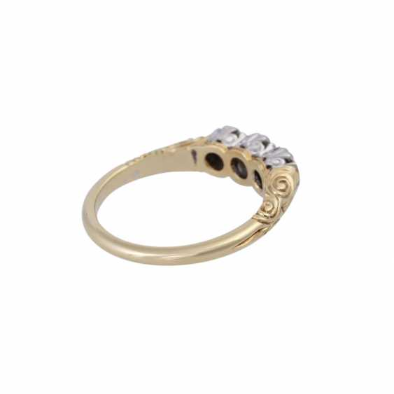 Ring with brilliant-cut diamonds, together approx 0.5 ct, - photo 3