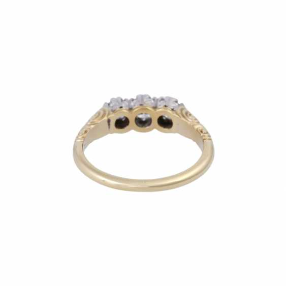 Ring with brilliant-cut diamonds, together approx 0.5 ct, - photo 4