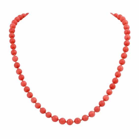 Coral necklace made of bullets, approximately 6 mm, - photo 1