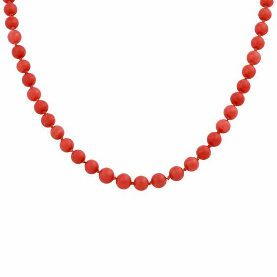 Coral necklace made of bullets, approximately 6 mm, - photo 2