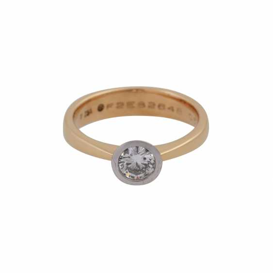 Ring with brilliant of 0.50 ct, - photo 1