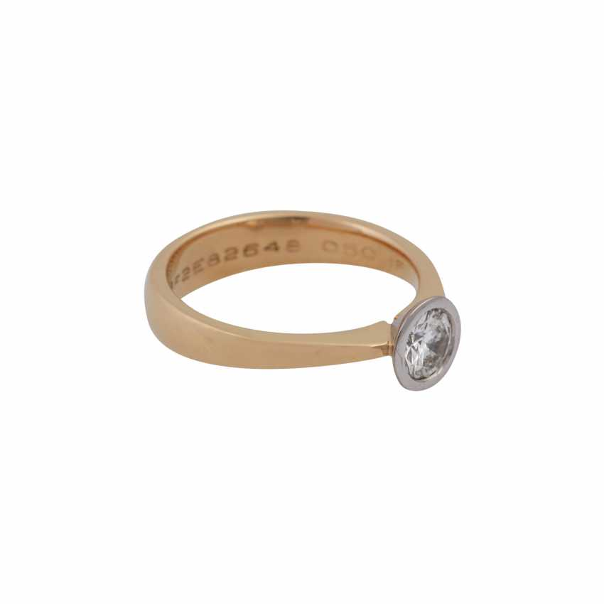 Ring with brilliant of 0.50 ct, - photo 2