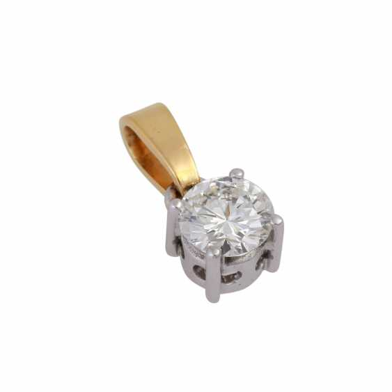 Solitaire pendant, set with diamonds, approx 0.8 ct, WHITE (H)/SI2-P1, - photo 4