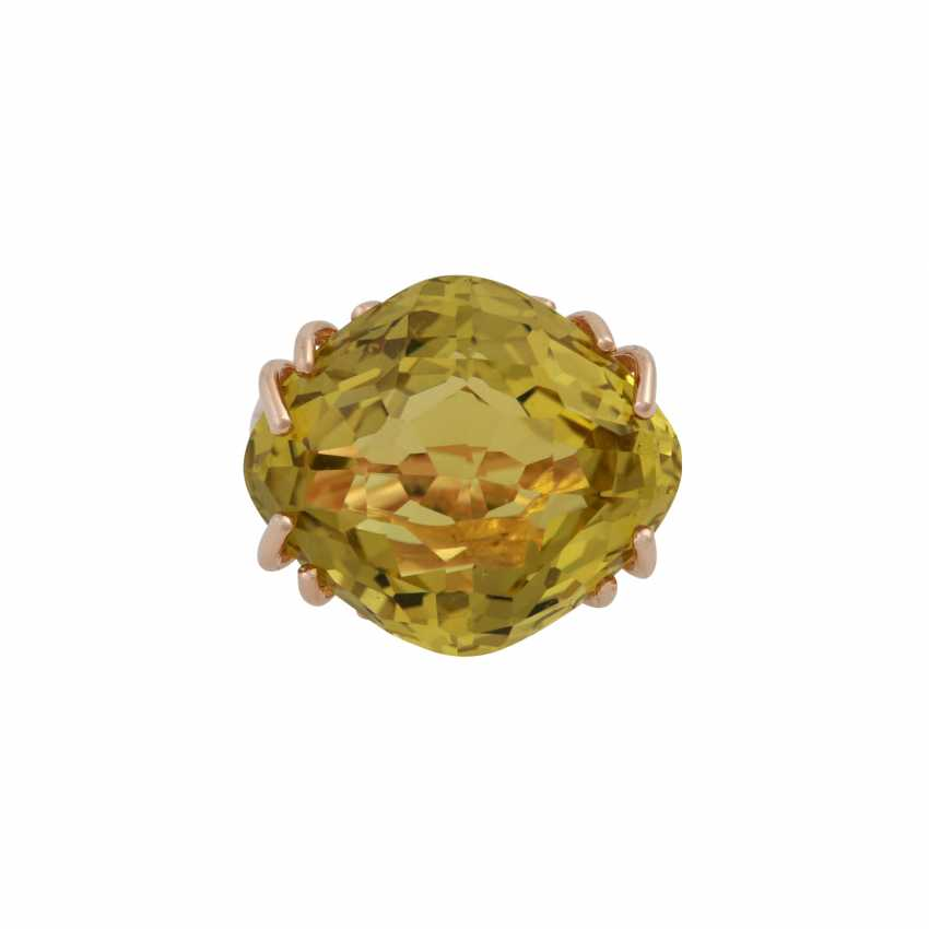 """WEMPE Ring """"by Kim"""" with a fine lemon citrine - photo 1"""