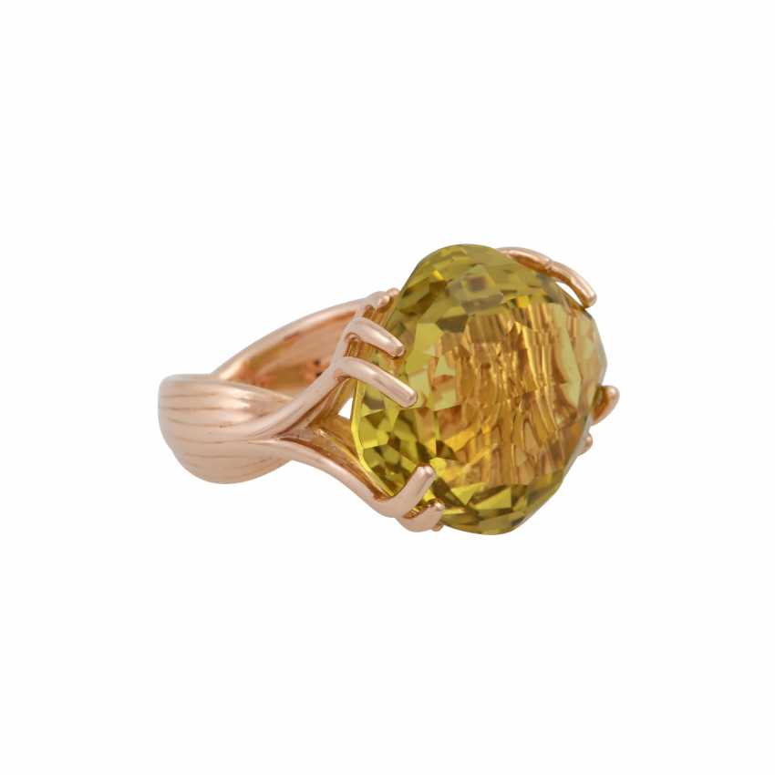 """WEMPE Ring """"by Kim"""" with a fine lemon citrine - photo 2"""