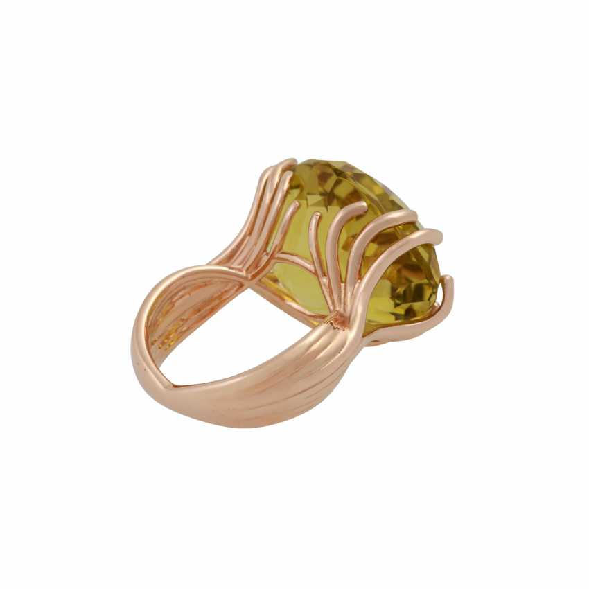 """WEMPE Ring """"by Kim"""" with a fine lemon citrine - photo 3"""