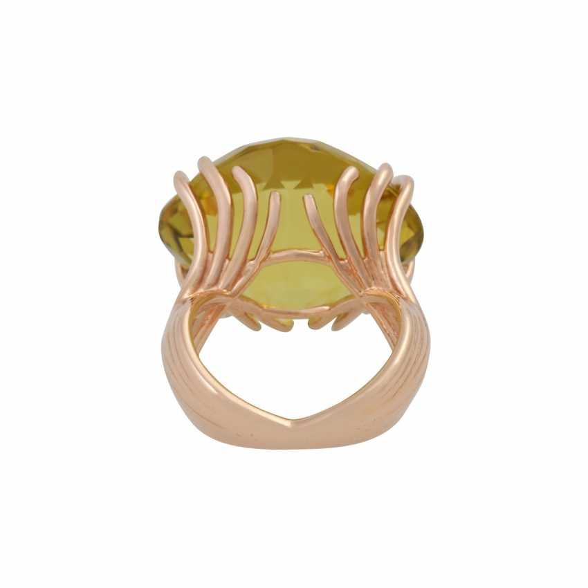"""WEMPE Ring """"by Kim"""" with a fine lemon citrine - photo 4"""