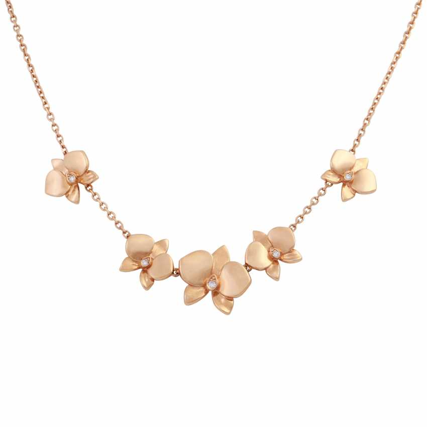 "CARTIER Necklace ""Caresse d' Orchidées"" mit 5 Brillanten - photo 2"
