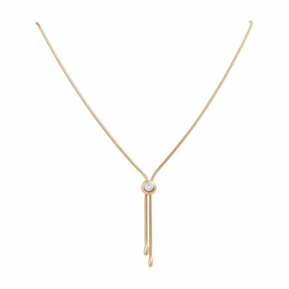 Y-necklace with solitaire sliding element, brilliant cut, approx 0.25 ct, - photo 1