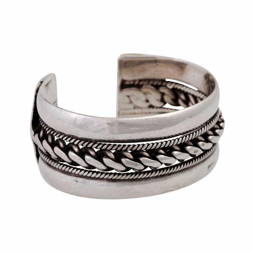 Silver bangle, - photo 2