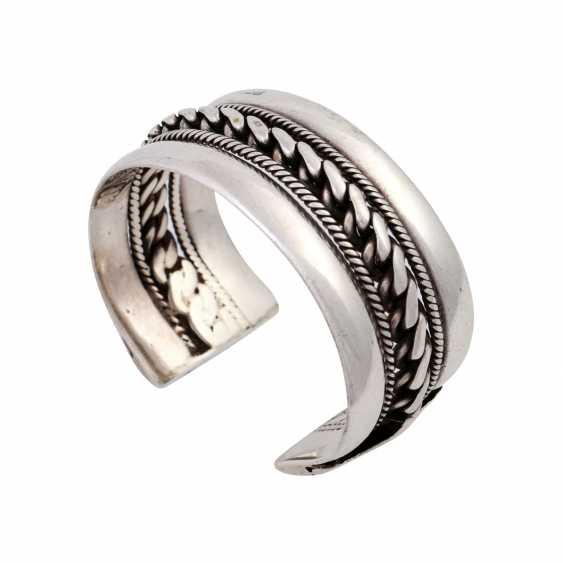 Silver bangle, - photo 4