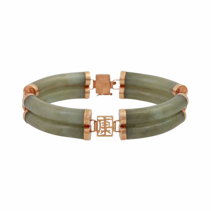 Bracelet made of arc-shaped Nephritjade - photo 1