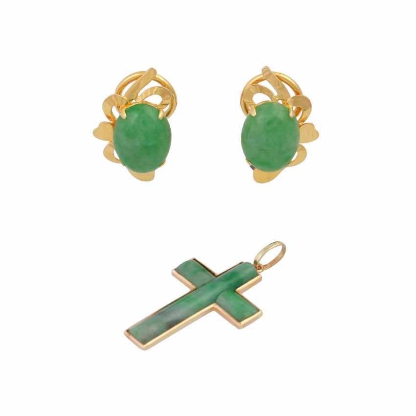 Vintage 2-piece modern jade jewelry, - photo 1