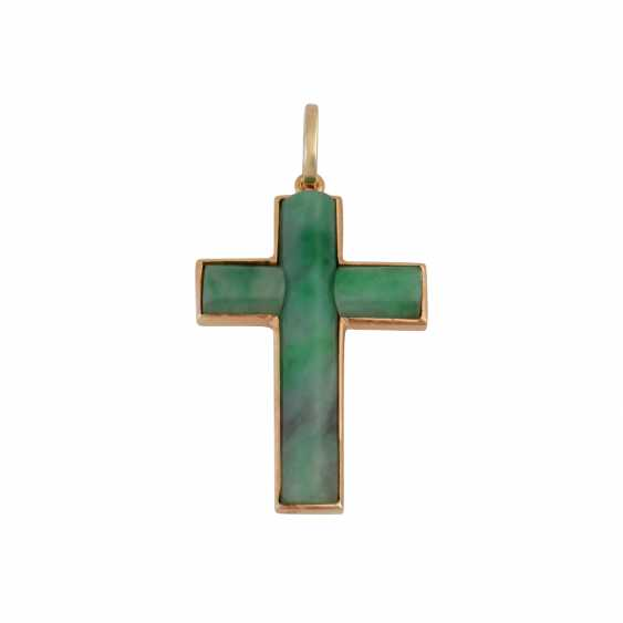 Vintage 2-piece modern jade jewelry, - photo 3