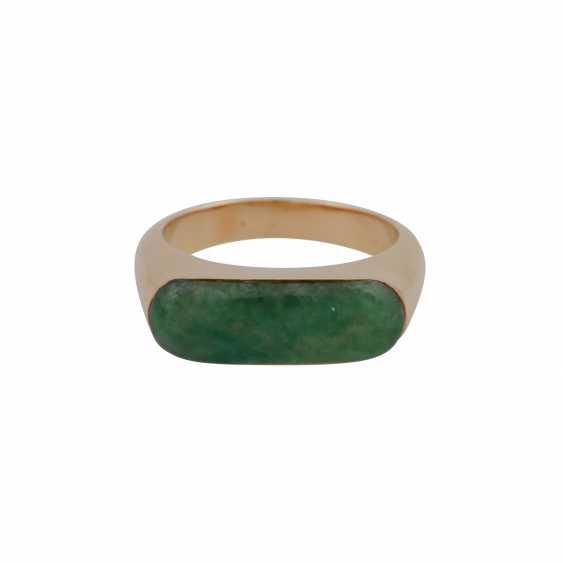 Ring with Jadeeinlage about 20x7 mm, - photo 1