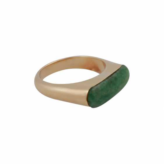 Ring with Jadeeinlage about 20x7 mm, - photo 2