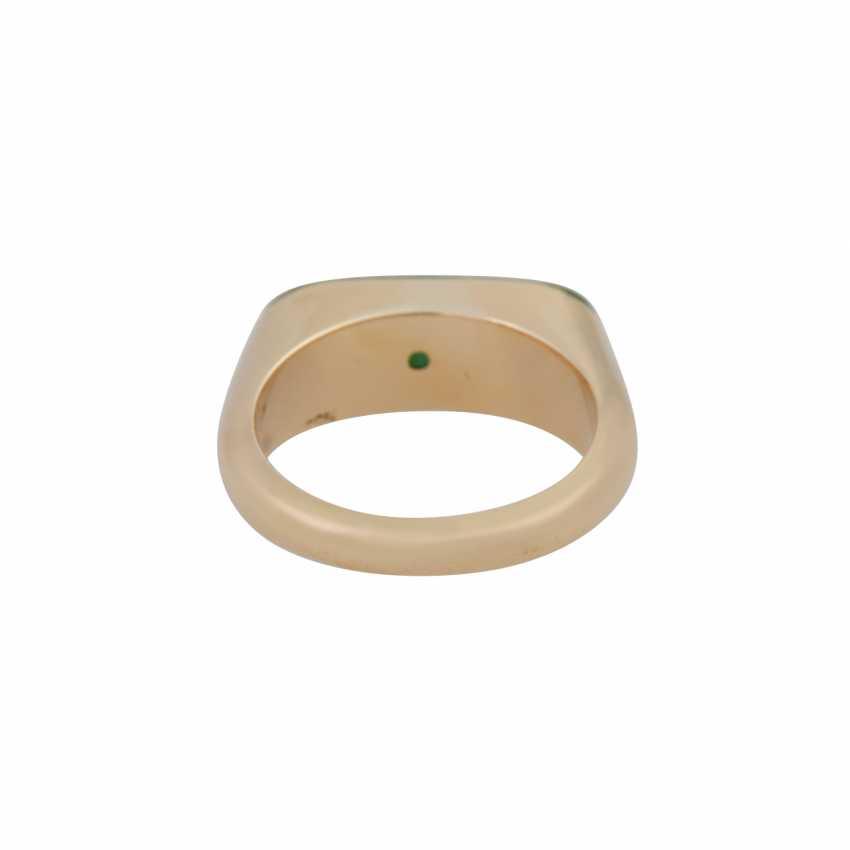 Ring with Jadeeinlage about 20x7 mm, - photo 4