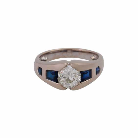 JACOBI Ring with old European cut diamond, about 1.5 ct, - photo 1