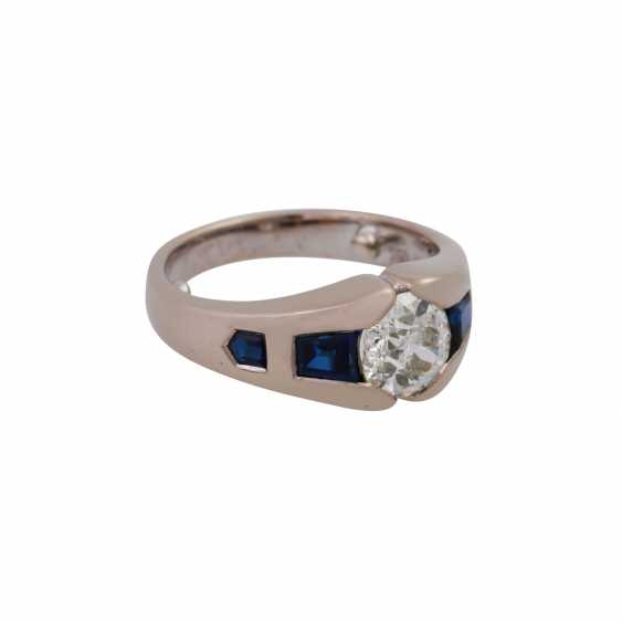 JACOBI Ring with old European cut diamond, about 1.5 ct, - photo 2