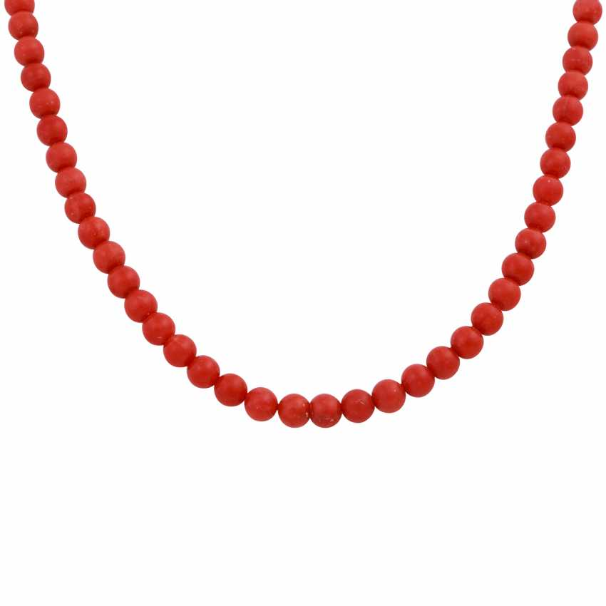 Necklace made of Mediterranean red coral, - photo 2