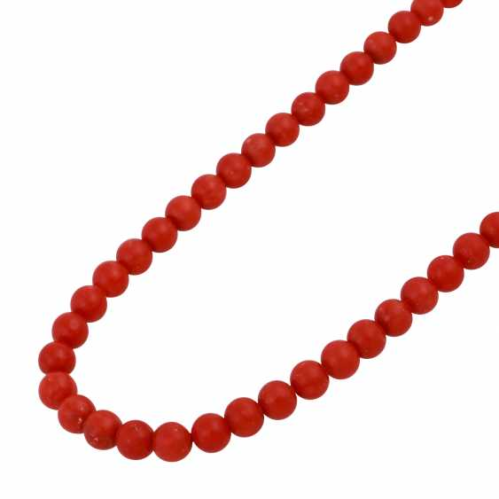 Necklace made of Mediterranean red coral, - photo 4