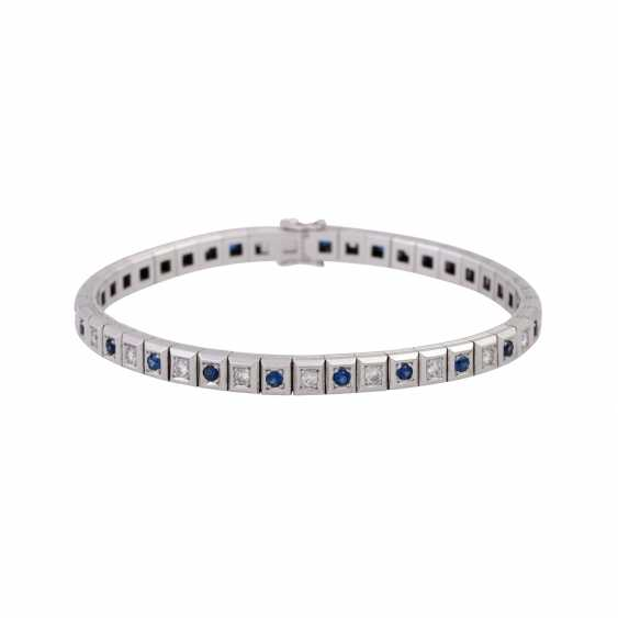 Bracelet with sapphires and diamonds - photo 1