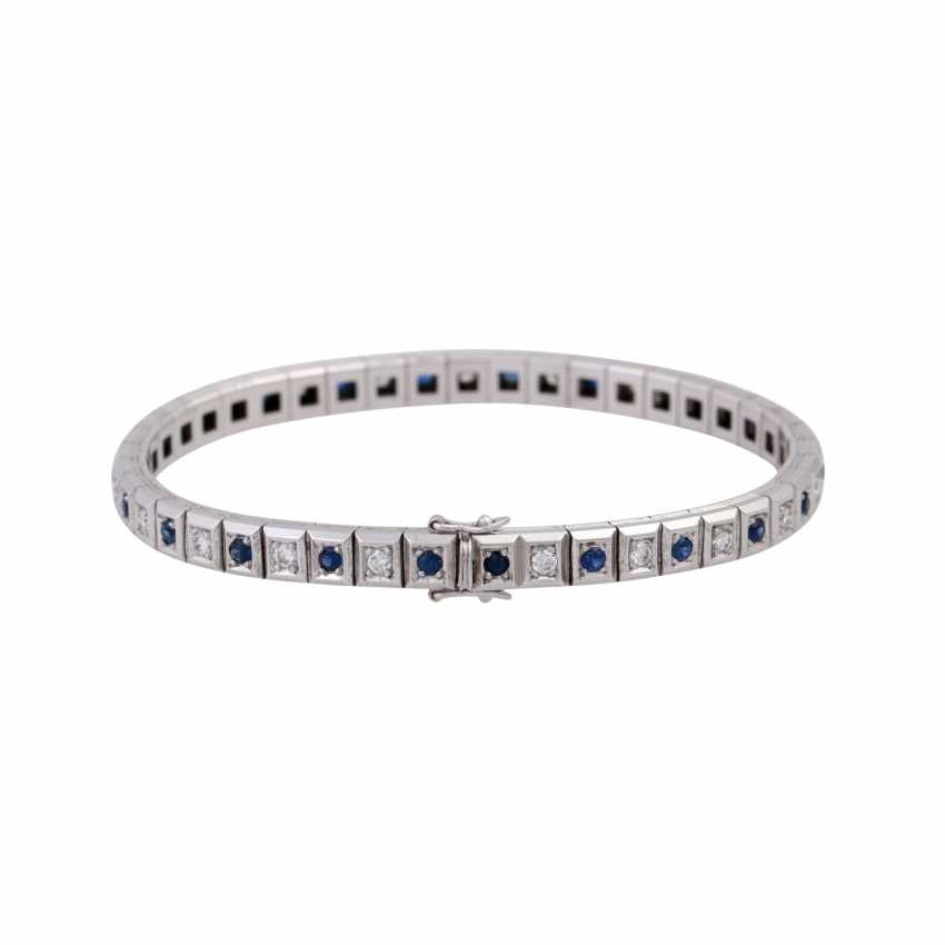 Bracelet with sapphires and diamonds - photo 2