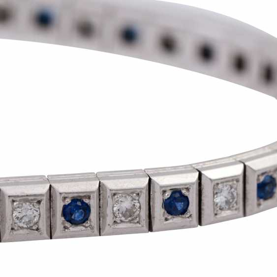 Bracelet with sapphires and diamonds - photo 5