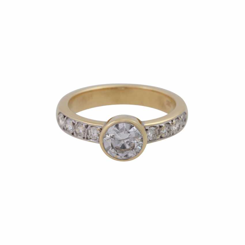 Ring with a Central brilliant of CA. 1 ct, - photo 1