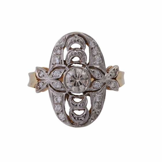 Ring with brilliant-cut diamonds in the Art Deco style, - photo 1