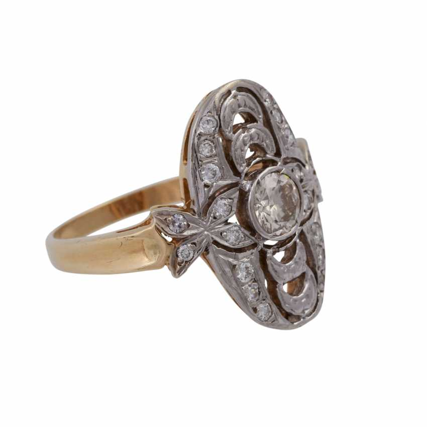 Ring with brilliant-cut diamonds in the Art Deco style, - photo 2