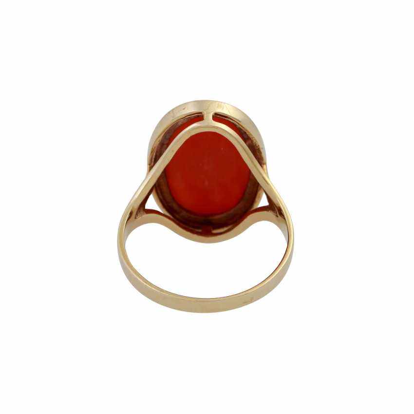Ring with precious coral, - photo 4