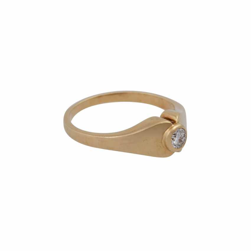 Ring mit Brillant ca. 0,10 ct, - photo 2