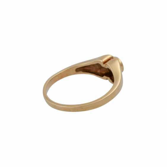 Ring mit Brillant ca. 0,10 ct, - photo 3