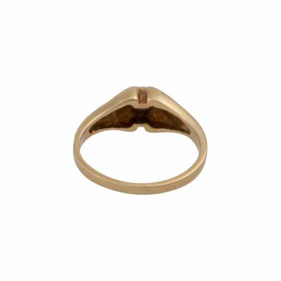 Ring mit Brillant ca. 0,10 ct, - photo 4