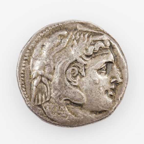 Ancient/Hellenistic Egypt, silver tetradrachm 323-305 BC, - photo 1