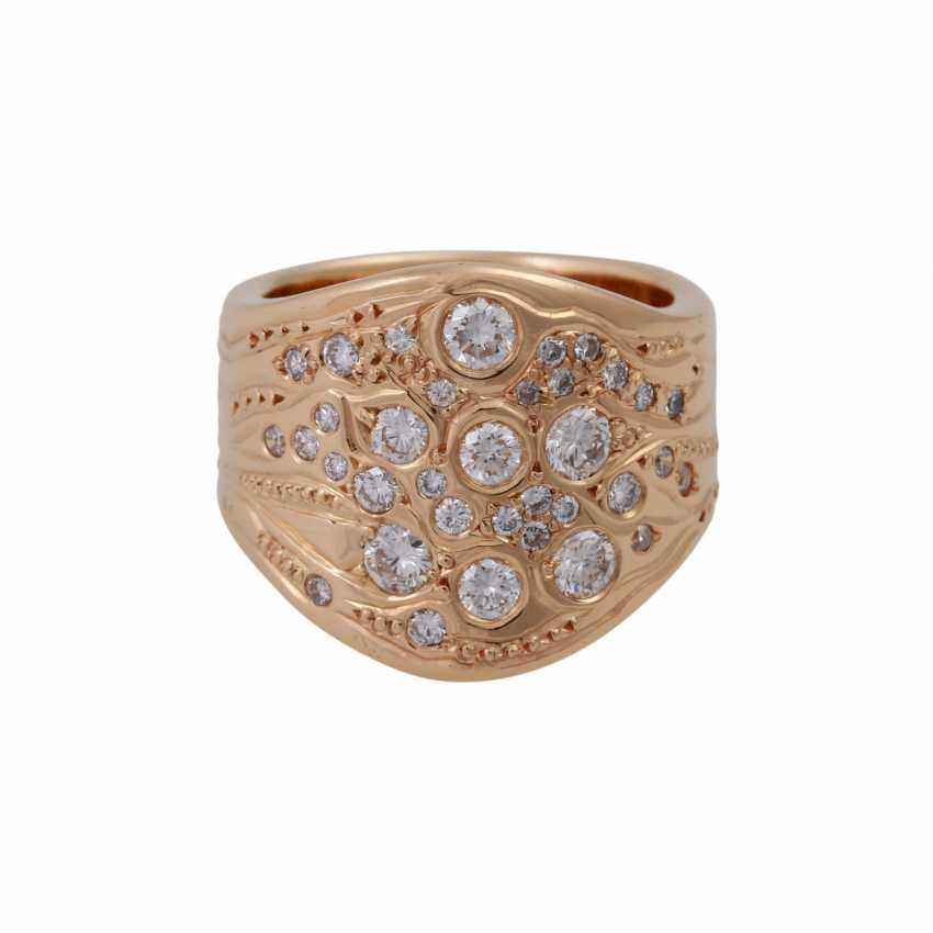 Ring with brilliant-cut diamonds, together approx. 1 ct - photo 1