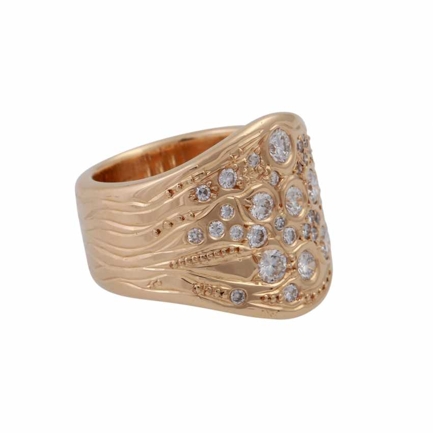 Ring with brilliant-cut diamonds, together approx. 1 ct - photo 2