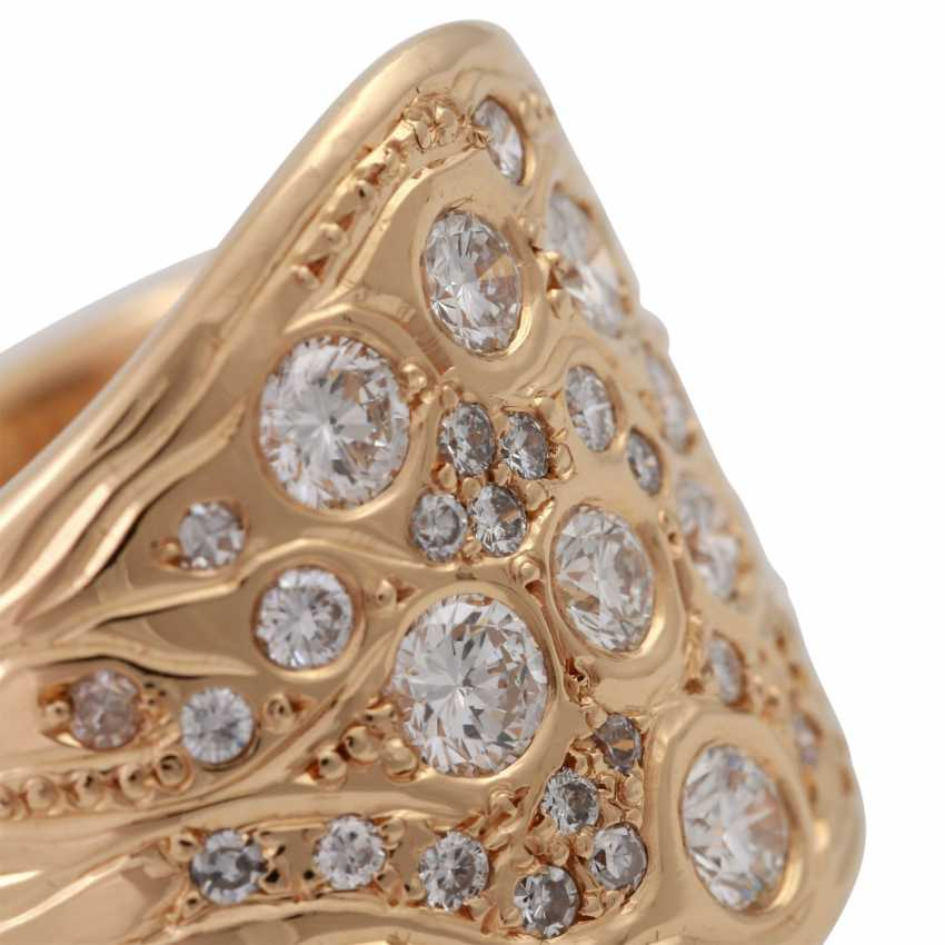Ring with brilliant-cut diamonds, together approx. 1 ct - photo 5