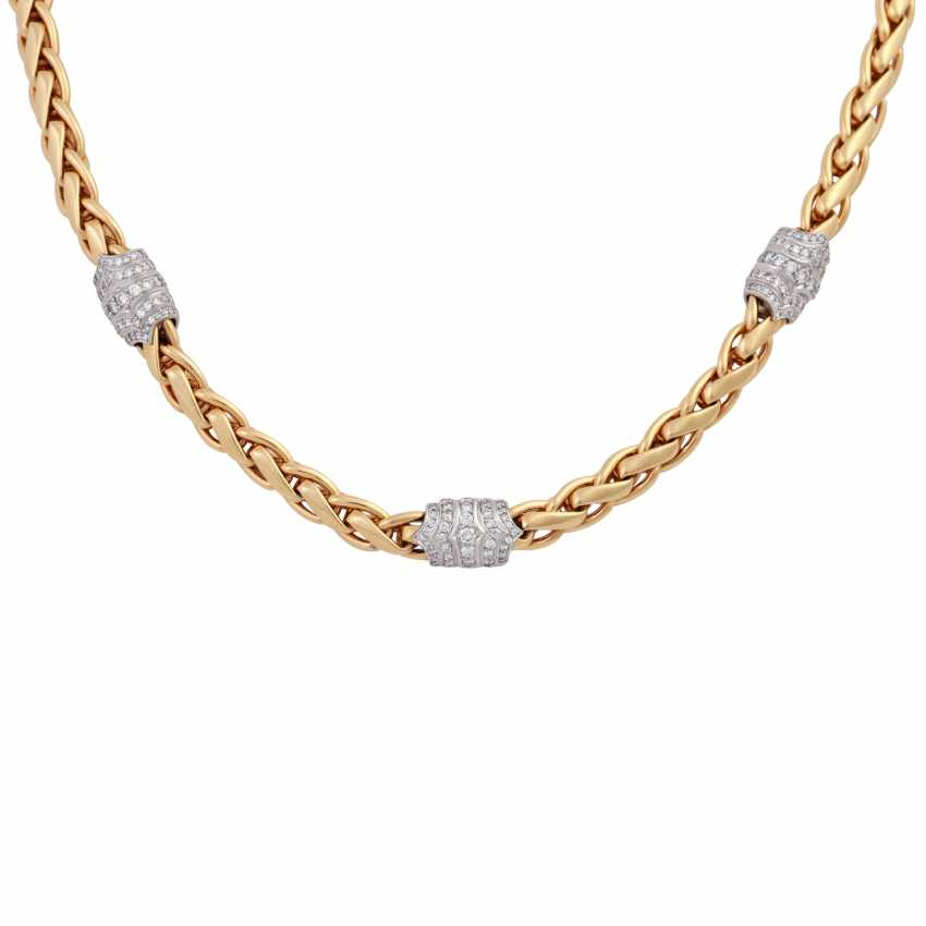 Necklace with approximately 270 brilliant-cut diamonds, together 2.5 ct., - photo 2
