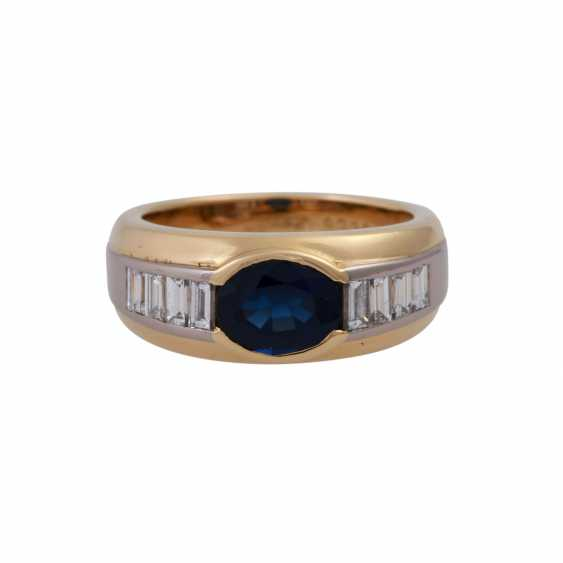 WEMPE Ring mit ovalem Saphir, ca. 2,1 ct, - photo 1