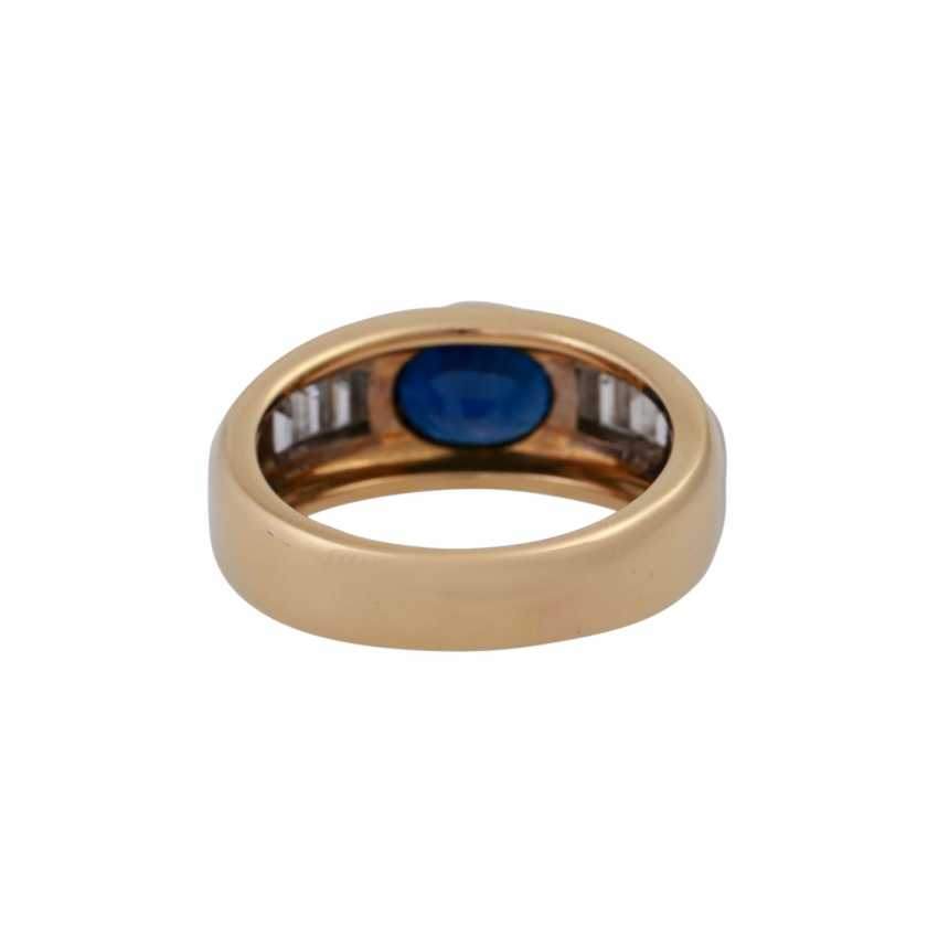 WEMPE Ring mit ovalem Saphir, ca. 2,1 ct, - photo 4