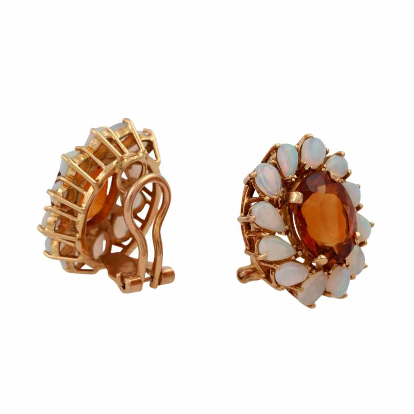 Clip earrings each with 1 oval fac. Citrine of 8 ct, - photo 3