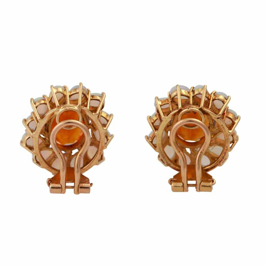 Clip earrings each with 1 oval fac. Citrine of 8 ct, - photo 4