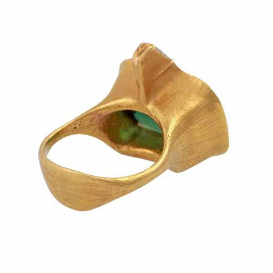 ATELIER MICHAEL ZOBEL Ring with green tourmaline, - photo 3