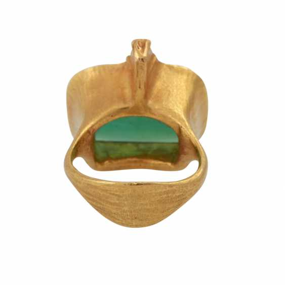 ATELIER MICHAEL ZOBEL Ring with green tourmaline, - photo 4