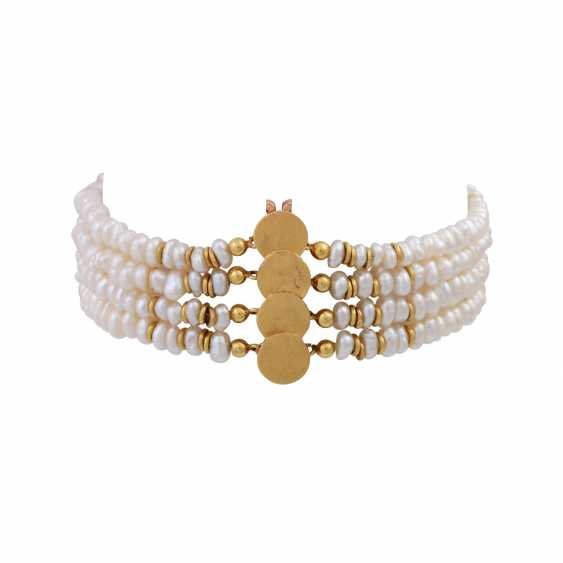 Bracelet of 4 rows of freshwater cultured pearls - photo 2