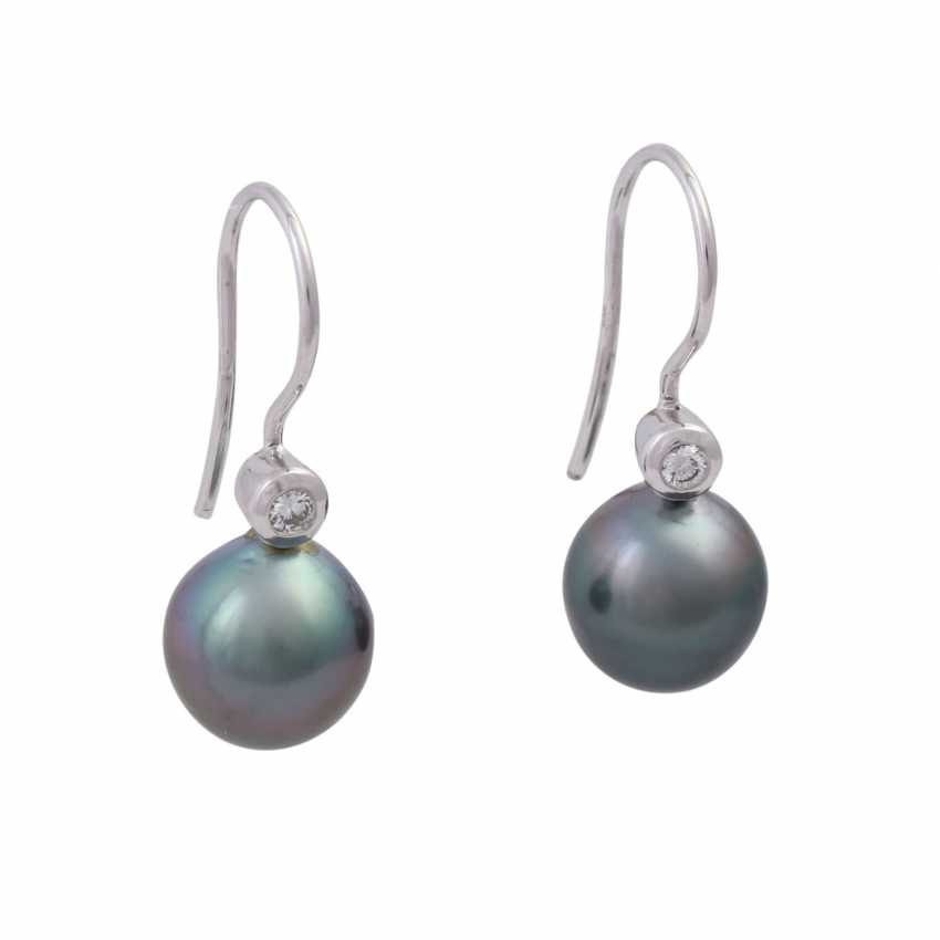 Pair of earrings with Tahiti pearls - photo 1