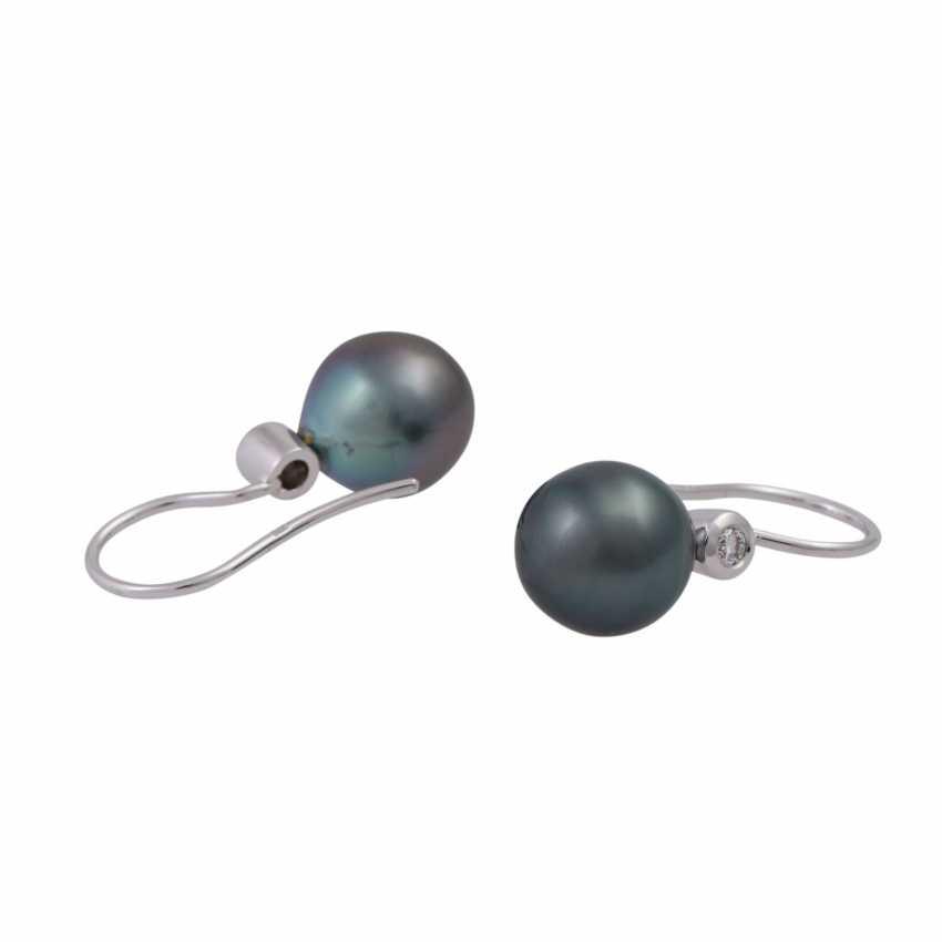 Pair of earrings with Tahiti pearls - photo 3